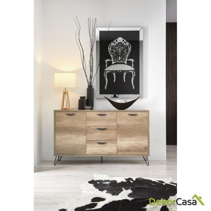 aparador madera color roble dekorcasa