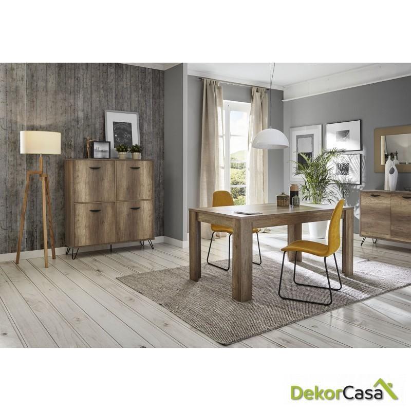 aparador cubo madera roble dekorcasa ambiente