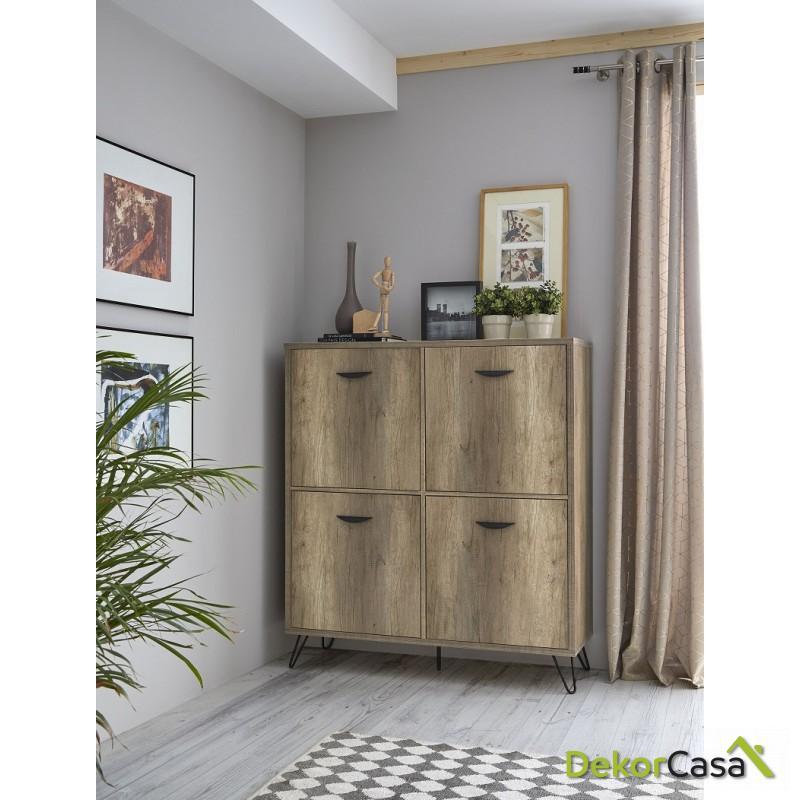 aparador cubo madera roble dekorcasa