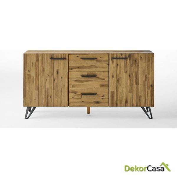 Aparador Irati madera maciza acacia 160 x 42 x 80 H