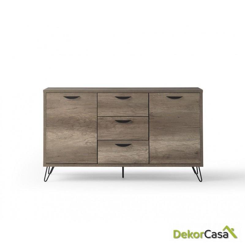 Aparador madera color roble  150 x 40 x 76