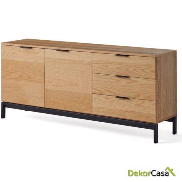 Aparador Manhattan madera roble 160 x 40 x 70