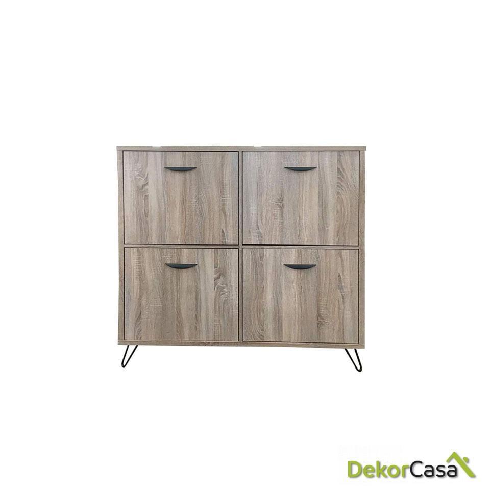 aparador cubo madera gris