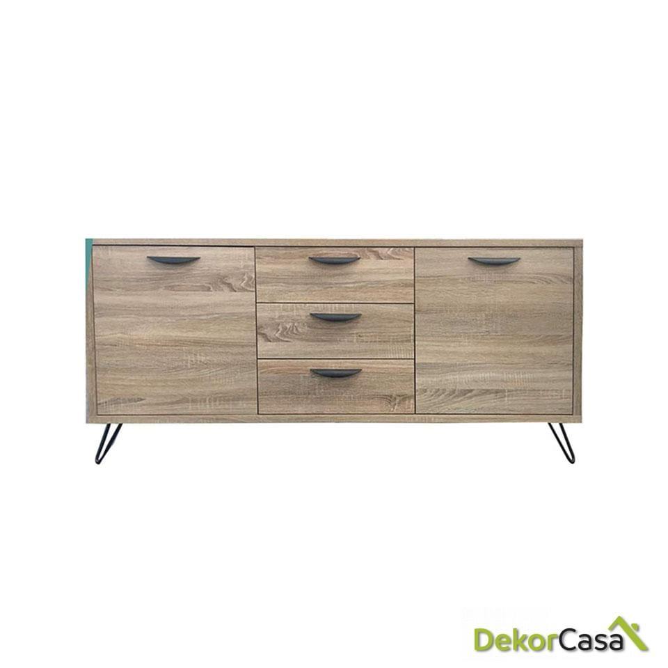 aparador madera color roble