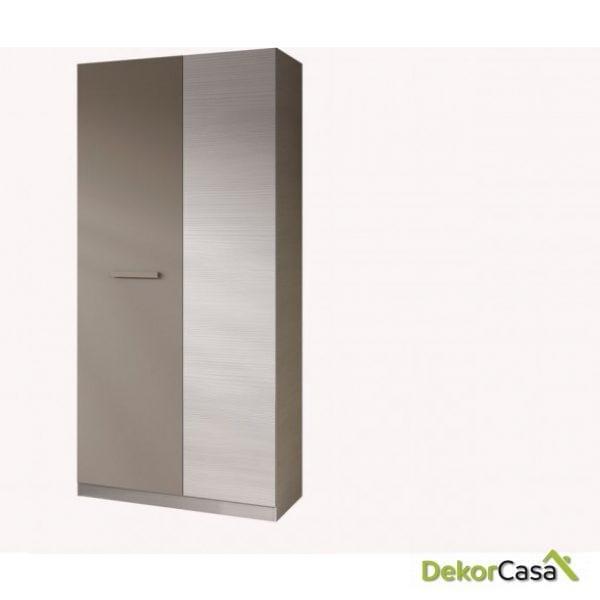 Armario 2 Puertas Blanco Line / Basalto 200x90x52cm