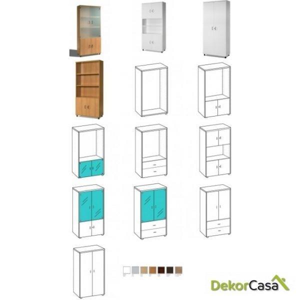 Armario alto de oficina personalizable 92 x 42 x 210 cm
