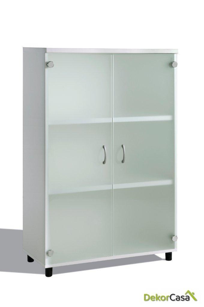 armario mediano con puertas cristal