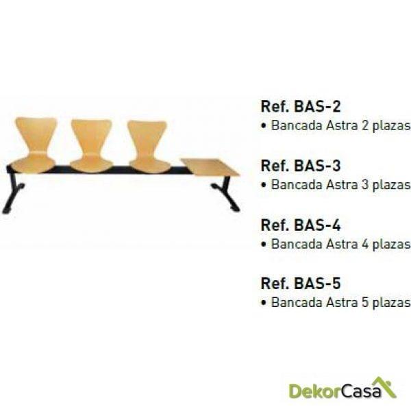 Bancada Astra 300 de 2,3,4 y 5 plazas