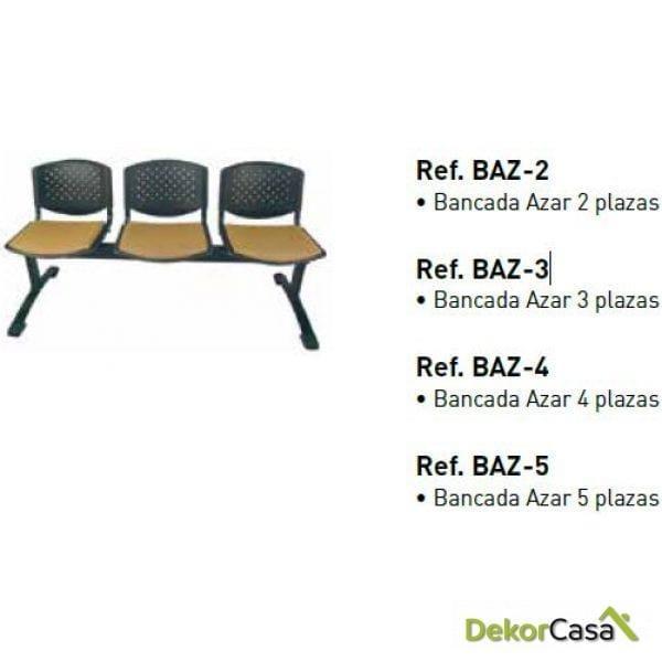 Bancada Azar de 2,3,4 y 5 plazas