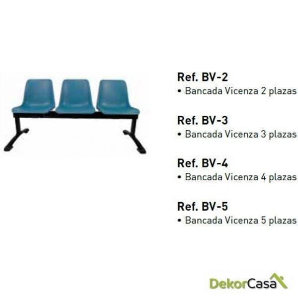 Bancada Vicenza de 2,3,4 y 5 plazas
