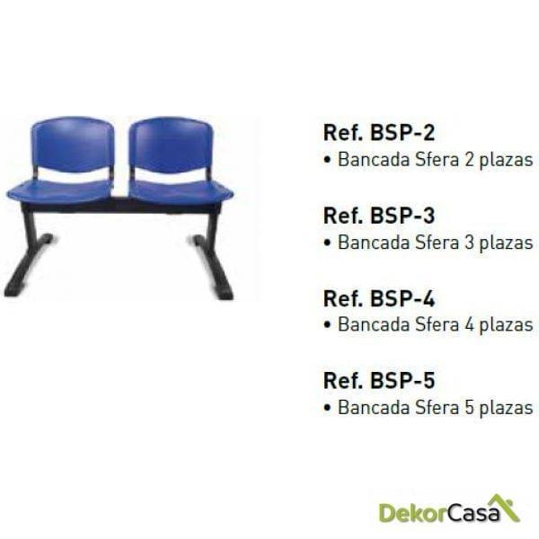 Bancada Sfera PVC de 2,3,4 y 5 plazas