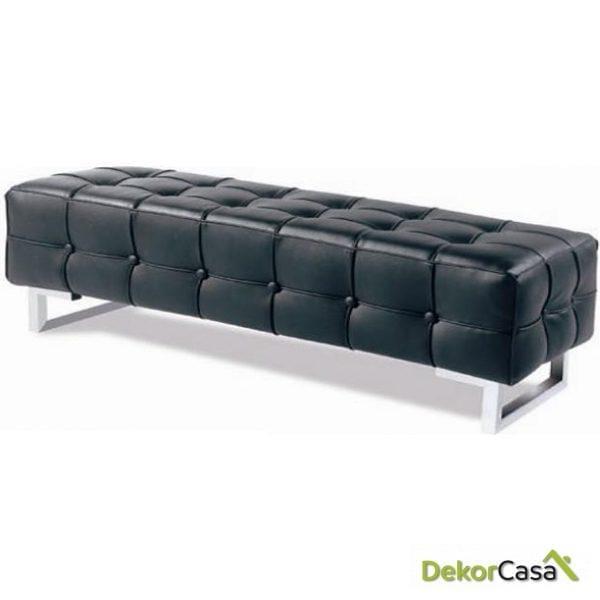 Banco dormitorio tapizado acero inox 155
