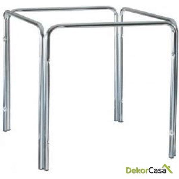 Base aluminio cuadrado apilable