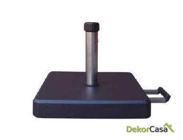 Base de granito y abs en color negro 48x48x7,5cm 35kg