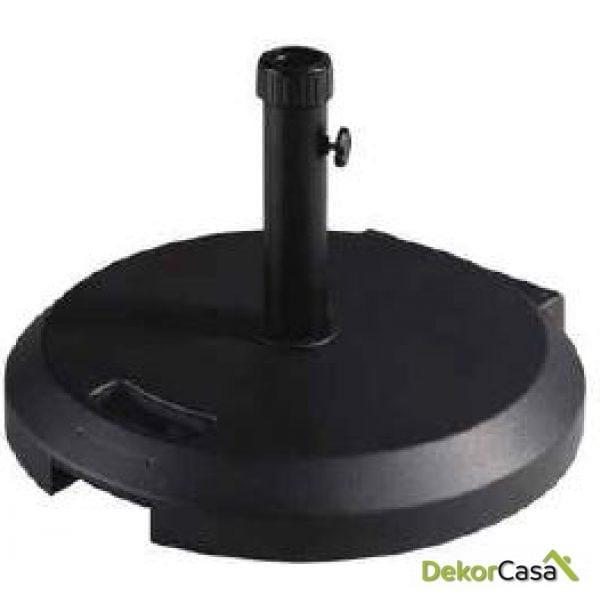 Base de granito y abs en color negro/ gris/ balnco 55x8cm 40kg