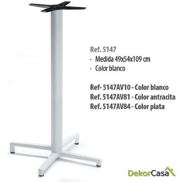 Base de mesa aluminio 49 x 54 x 109 cm