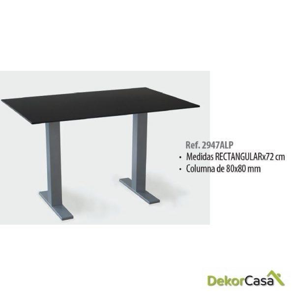 Base de mesa aluminio rectangular