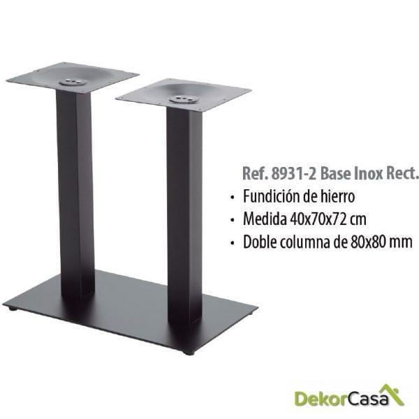 Base de mesa de hierro base rectangular
