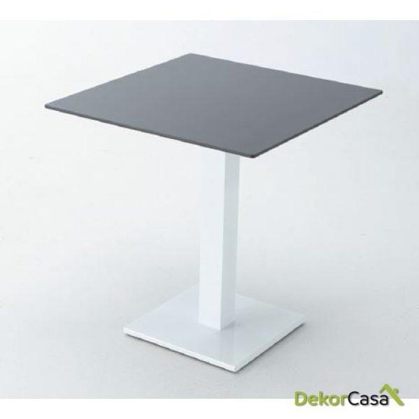 Base de mesa hierro blanco