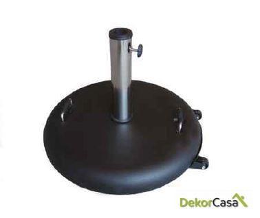 Base de parasol de granito negro/  blanco con ruedas 40kg
