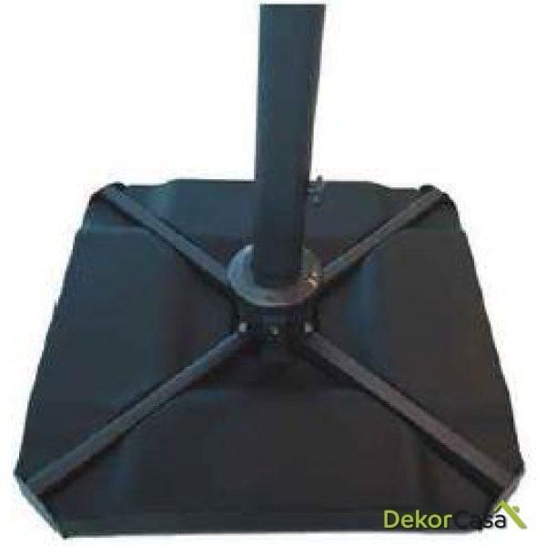 Base de parasol rellenable negra 100kg