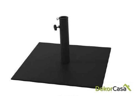 Base parasol plancha negra/ blanca 60x60cm 35kg