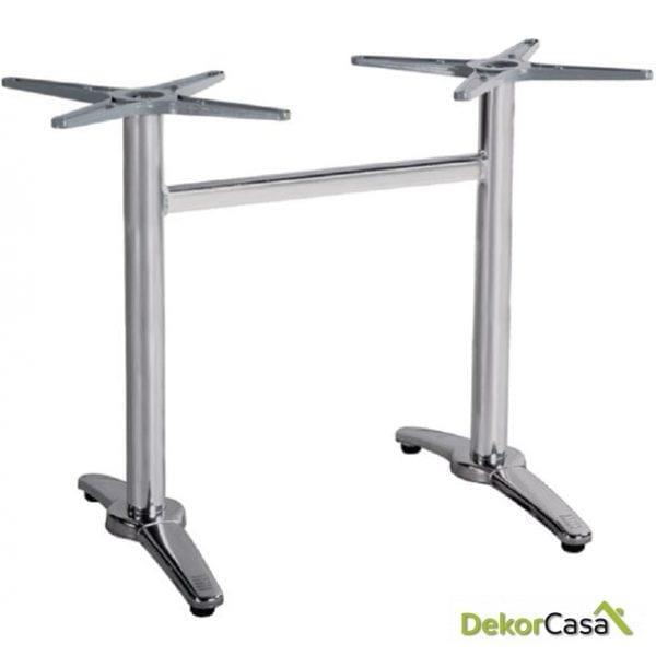 Base rectangular aluminio inox 63x108x70cm