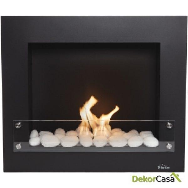 Biochimenea de pared negro/ blanco/ gris Limited Edition BESTBIO DESIGN B