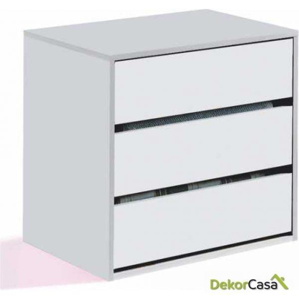 Cajonera 3 cajones Blanca para interior de armarios