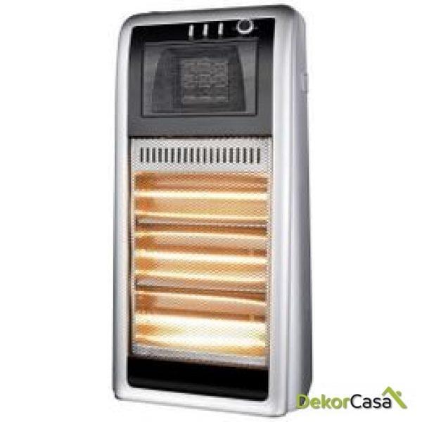 Calefactor cerámico y halógeno con humidificador incorporado