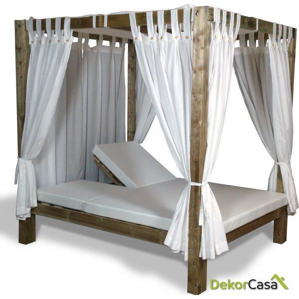 Cama balinesa madera autoclave reclinable