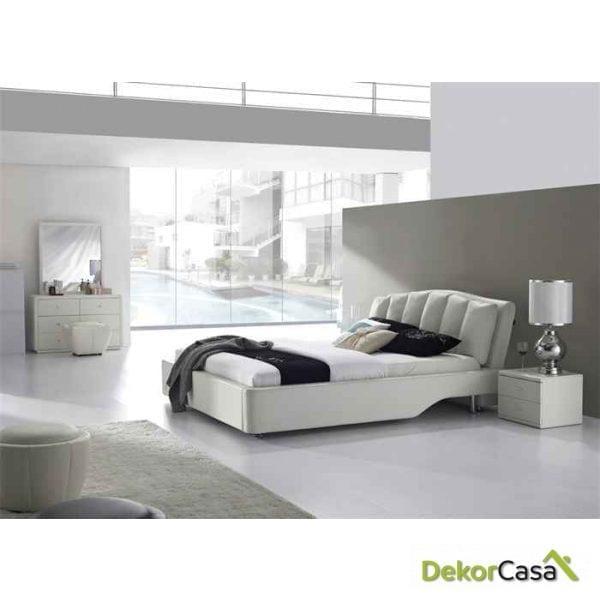 Cama DELUXE PIEL160x190 cms
