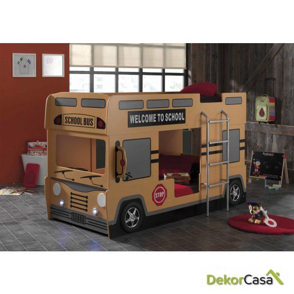 Cama Litera juvenil Autobus 215 x 120 x 132 cm