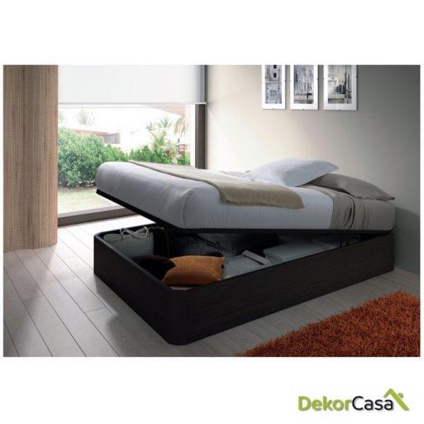 canape + somier laminas 150x190  Negro Malla