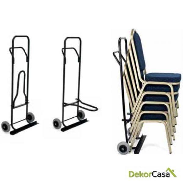 Carretilla para sillas M900 25 x 61 x 131 cm