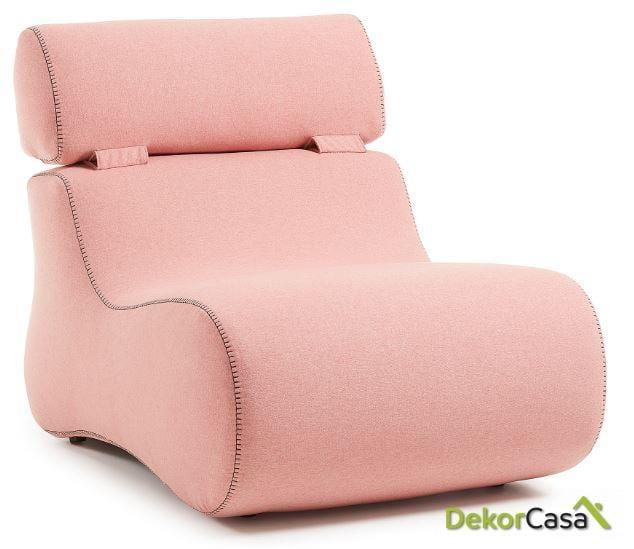 CLUB Butaca tela rosa