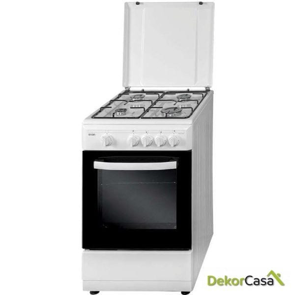 Cocina 4 fuegos Blanca GAS BUTANO svan SVK5501GBB