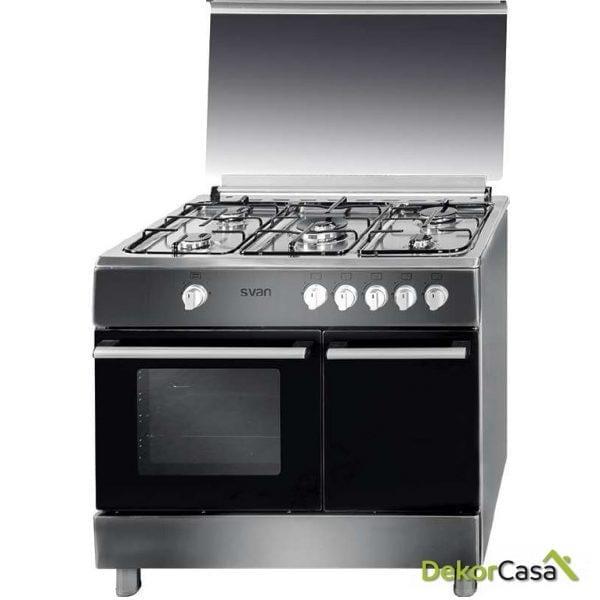 Cocina 5 fuegos Porta Bombonas Inox svan SVK9560GI