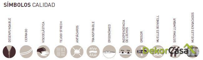 colchon venus latex simbolos calidad