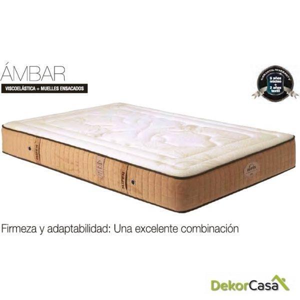 COLCHON VISCO+MUELLES ENSACADOS AMBAR