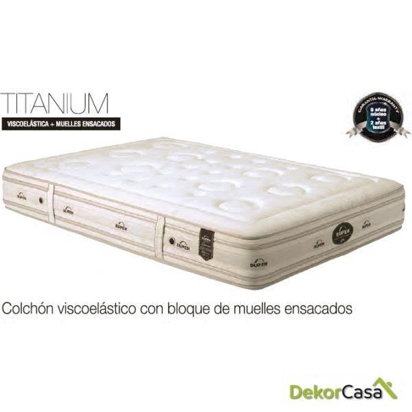 COLCHON VISCO+MUELLES ENSACADOS TITANIUM 2 CARAS