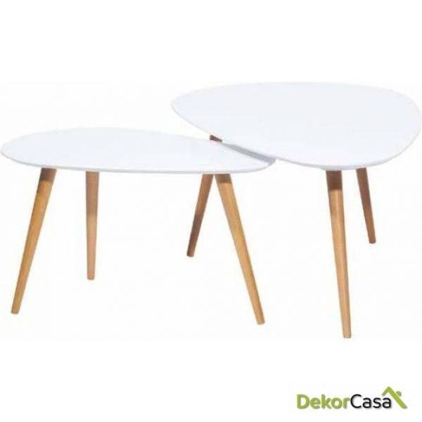 Conjunto de 2 mesas de centro SET CUORE