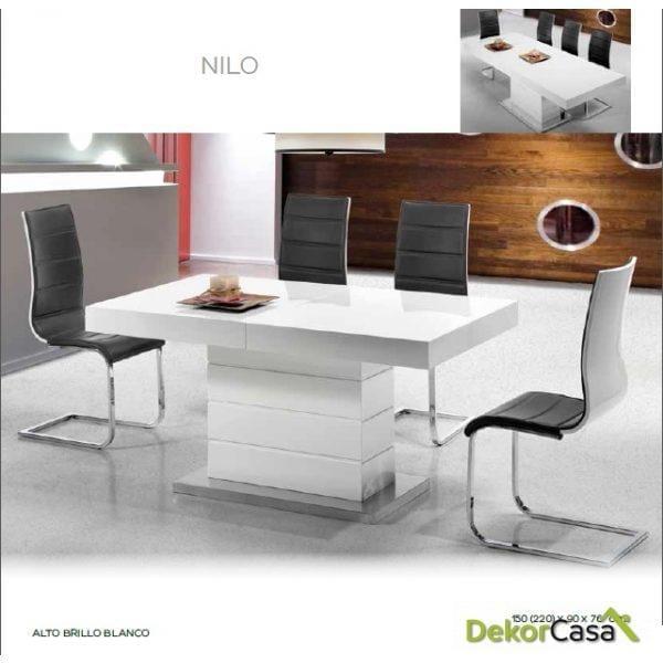 CONJUNTO Mesa Extensible NILO + 4 SILLAS CORUÑA