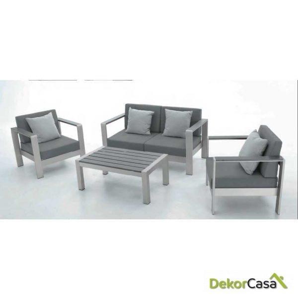 Conjunto Sofas  Aluminio Concept