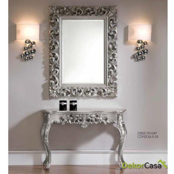 Consola barroca plata elegance K-58
