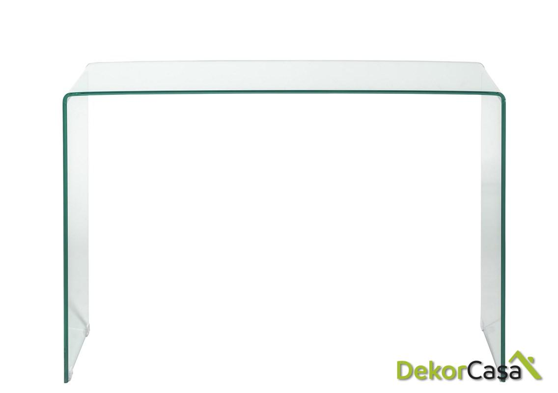 consola cristal transparente 110 cm x 30 x 72 h 1