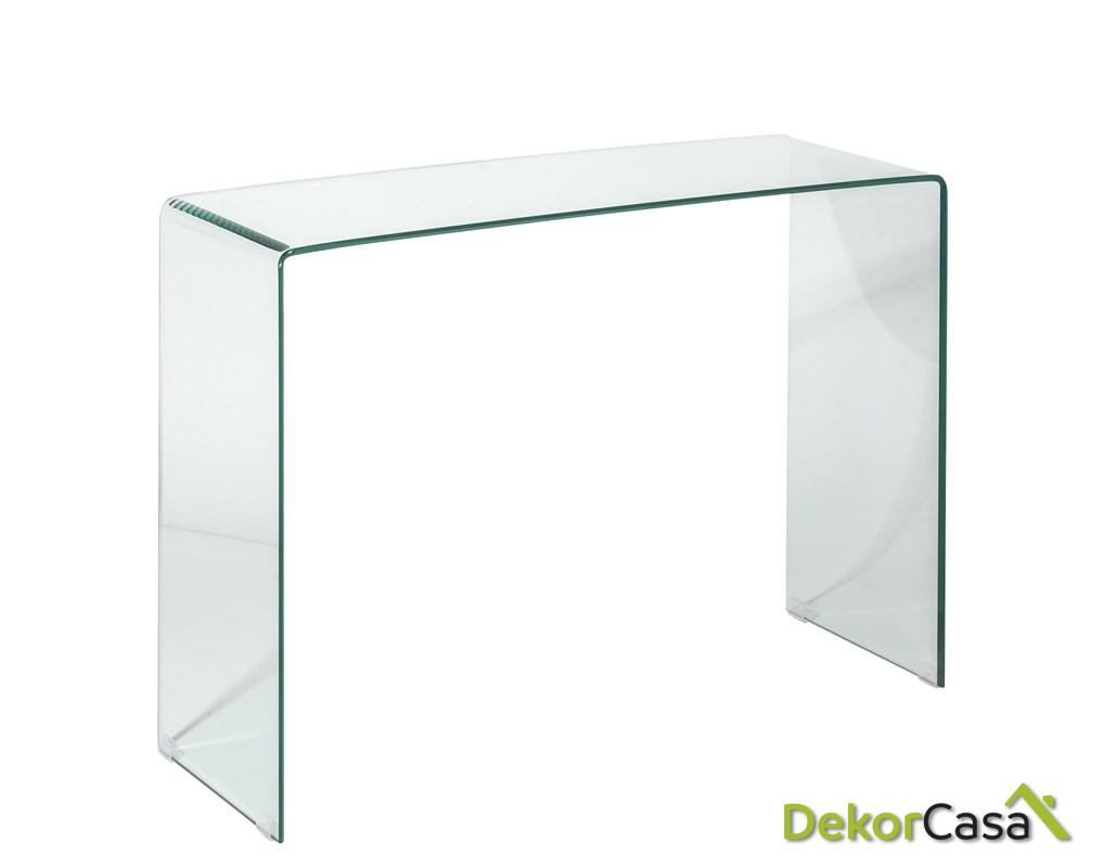 consola cristal transparente 110 cm x 30 x 72 h 2