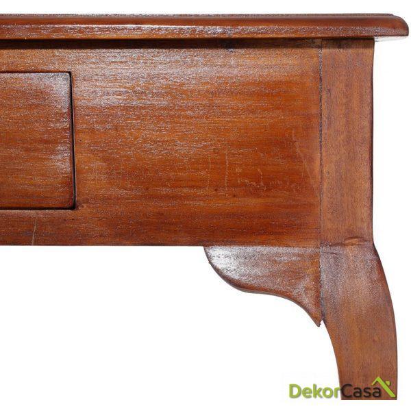 consola 1 caj n marr n madera cl sico 90 x 28 x 75 cm 1