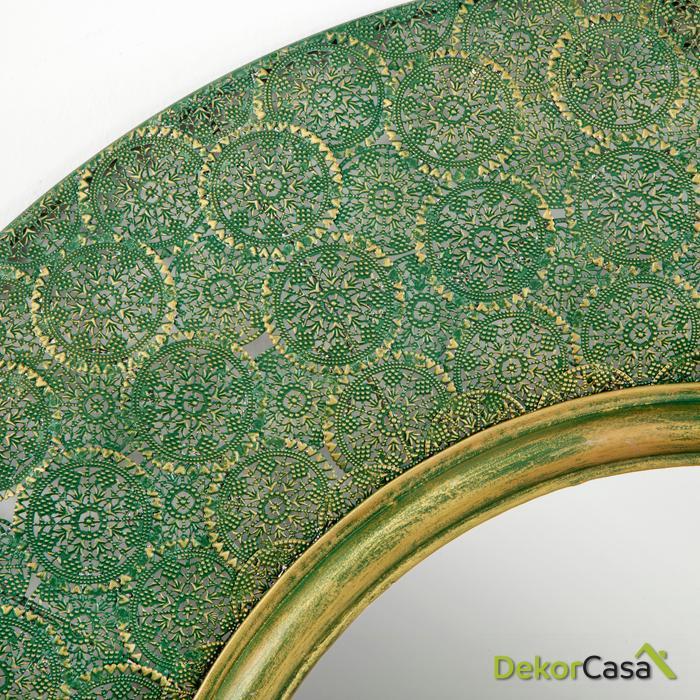 espejo redondo oro verde2