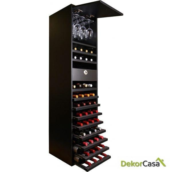 Expositor de Vino Extraible Merlot con Puerta.